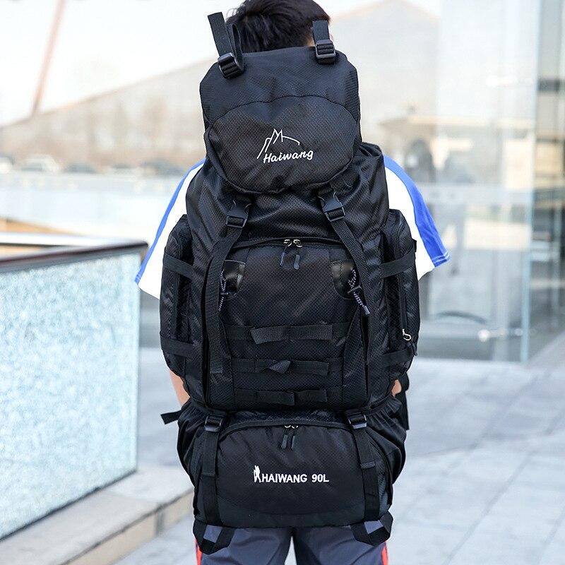 90L Multifunctional Hiking Waterproof Backpack Men Big Capacity Climbing Sport Bags Outdoor Mountaineering Backpacks Travel Bag