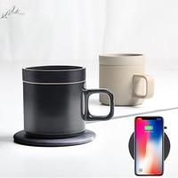 55 Degree Intelligent Wireless Charging Electric Heating Coffee Cup Mugs Janpan Original Ceramics Insulation Coffee Mug Top Gift
