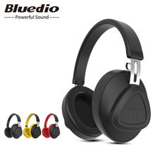 Bluedio TM wireless bluetooth headphone with microphone monitor studio headset for music and phones support voice control(China)