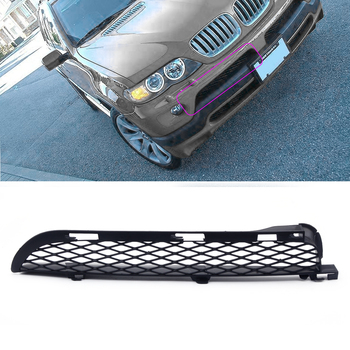 Right Black Front Grilles Upper Bumper Mesh Grill Trim fit for BMW X5 E53 2004 2005 2006 Accessories image
