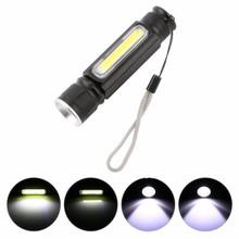 Super Bright Magnetic USB Rechargeable Led Flashlight Zoom Small Pocket Keychain Flashlights Waterproof Portable Camping Lamp zoom usb rechargeable led flashlight xml t6 cob high lumen brightest mini magnetic keychain flashlight for camping bicycling