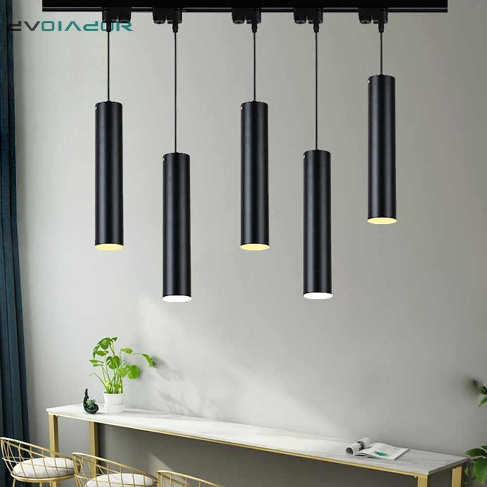 led track light lamp aluminum ceiling rail track lighting spot lamps rail spotlights kitchen island dining room shop bar pendant