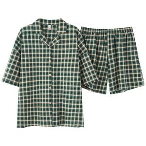 Image 5 - BZEL Green Plaid Sleepwear Set Loose Ladies Casual Home Wear Turn down Collar Pajama Soft Cotton Nightwear Large Size Pijama 3XL