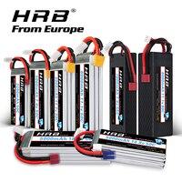 Europa almacén HRB batería Lipo 2S 3S 4S 6S 3300mah 2200mah 5000mah 6000mah 4000mah 7000mah con XT60 T EC5 macho para RC Coche