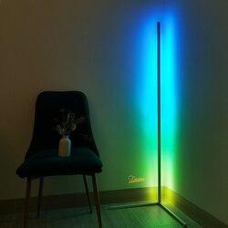 Nordic rgb conduziu a lâmpada de assoalho canto conduziu a luz do assoalho quarto colorido lâmpada atmosfera clube iluminação interior casa decoração lâmpada em pé