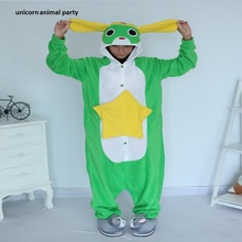 Kigurumi Adult Frog Keroro Unisex Pyjamas Cosplay Costume Halloween Party Onesies Pajamas Sleepsuit Cartoon Sleepwear take kigurumi leopard animal onesies pajamas cartoon costume cosplay pyjamas adult onesies party dress halloween pijamas