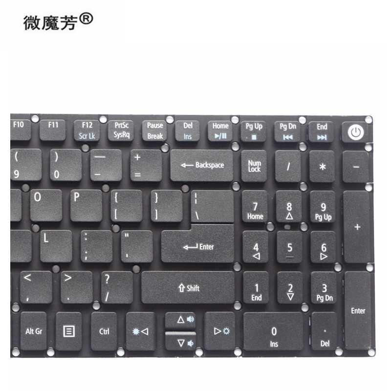 ใหม่สำหรับ Acer Aspire 3 A315 A315-21 A315-31 A315-51 A315-52 A315-21G A315-51G A315-41G แป้นพิมพ์แล็ปท็อปภาษาอังกฤษรุ่น US