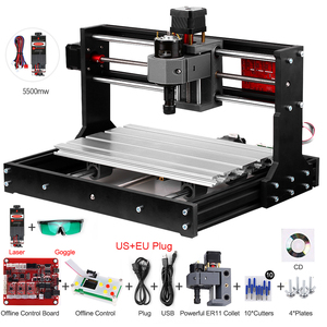 Laser Engraving Machine CNC 3018 Pro GRBL Control CNC Machine Wood Router Laser Engraver With Offline Controller+ Extension Rod