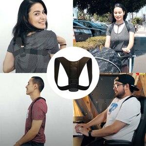 Image 5 - 20pcs/lot Brace Support Belt Adjustable Back Posture Corrector Clavicle Spine Back Shoulder Lumbar Posture Blet Correction