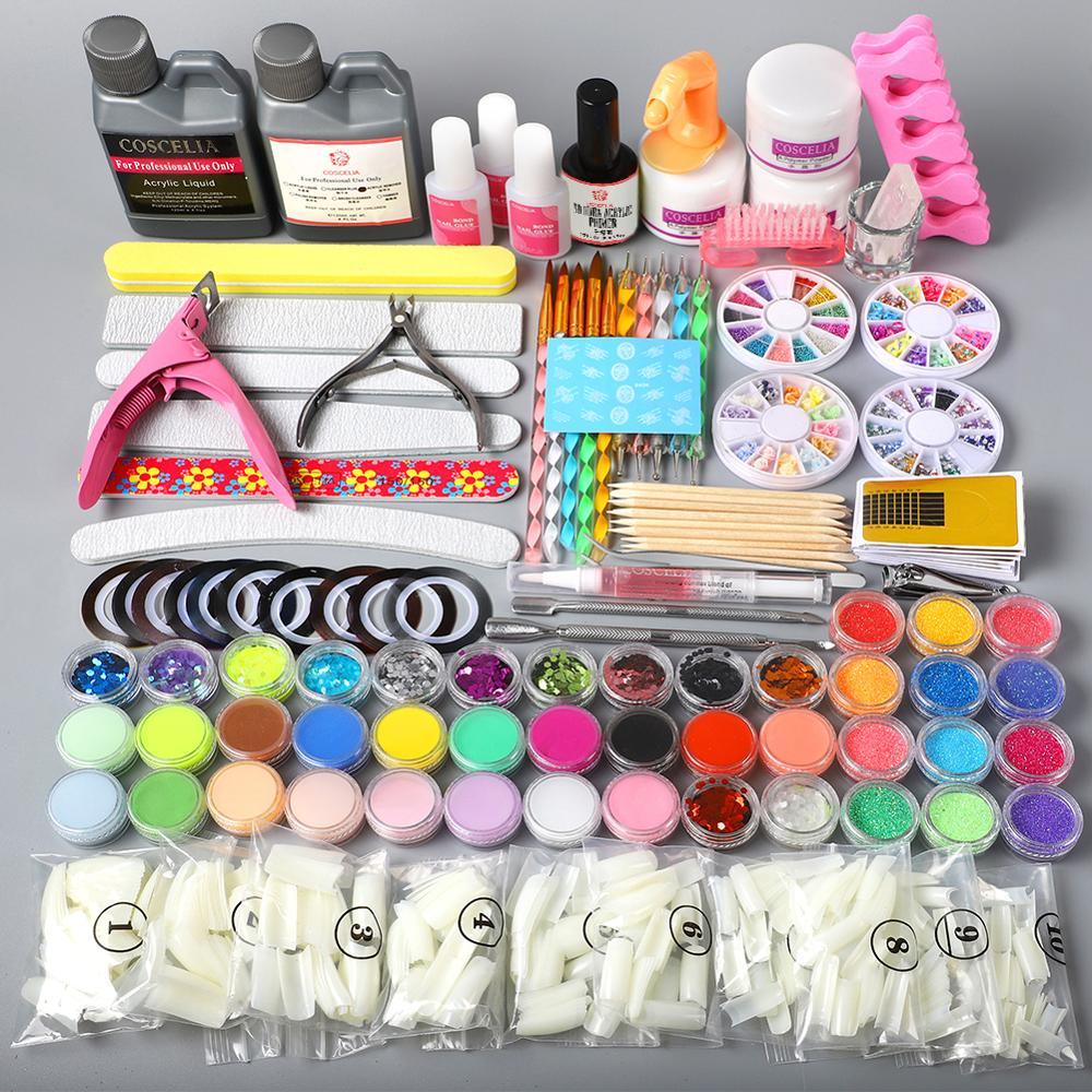 pro acrilico em po acrilico 120ml conjunto para manicure prego extensao conjunto prego kit acrilico dicas