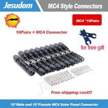 10 пар в комплекте; x MC4 разъем мужской и женский Панели солнечные разъем 30A 1000V с 1 Пара Ключ, дюймовый стандарт для PV кабель 2,5/4/6 мм