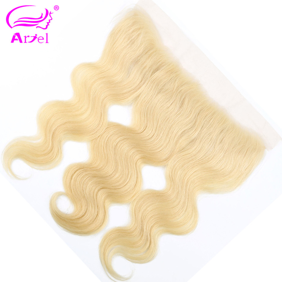 Body Wave Frontal 613 Frontal Closure Malaysia Hair Blonde Frontal 13x4 Remy Middle Part Closure Ear