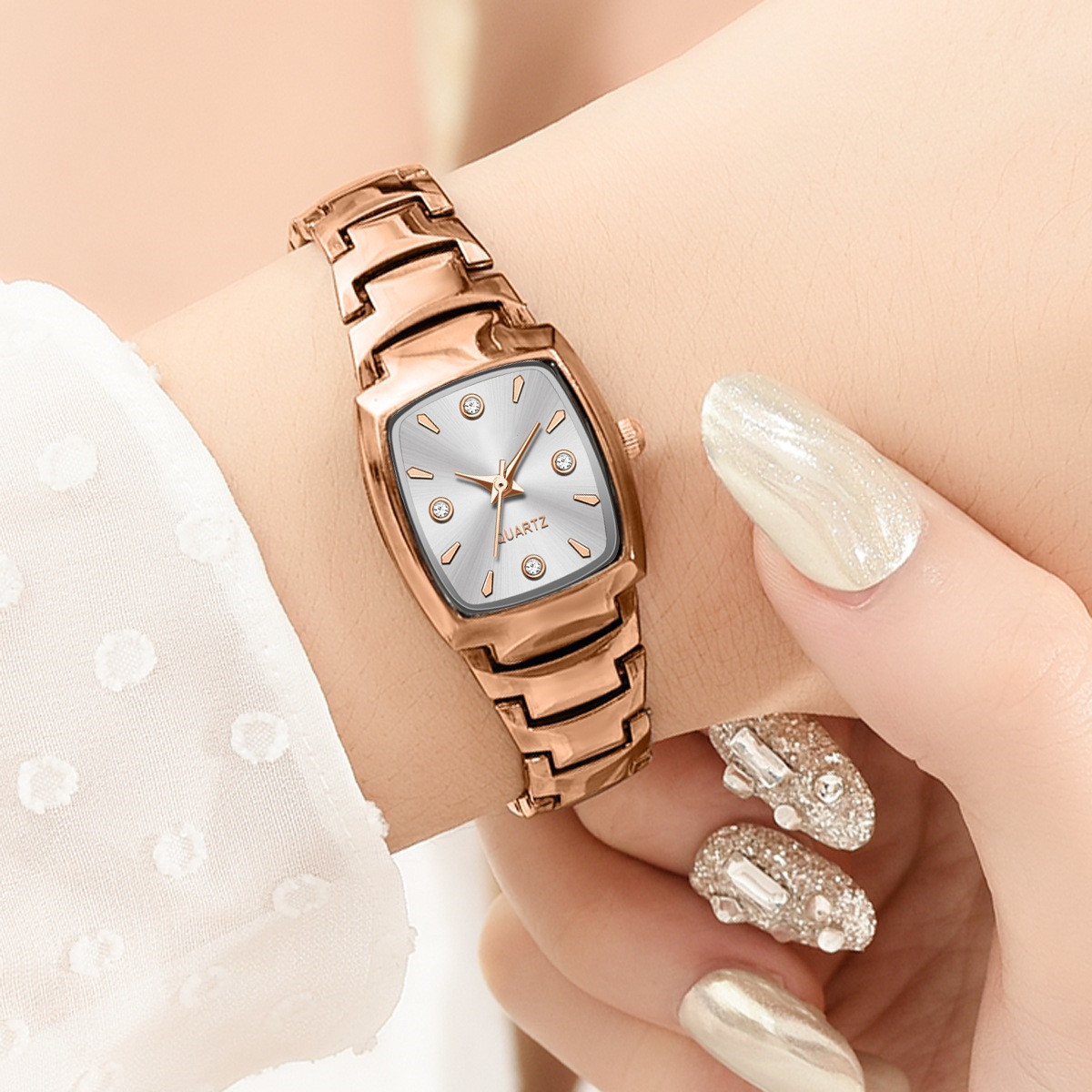 Women Bracelet Beautiful Watch Rose Gold Fashion 2021