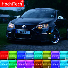 Multi-color RGB LED Angel Eyes Halo Ring Eye DRL RF Afstandsbediening Voor VOLKSWAGEN VW Golf 5 Konijn Jetta r32 V Mk5 2004-2009 Accessoires(China)