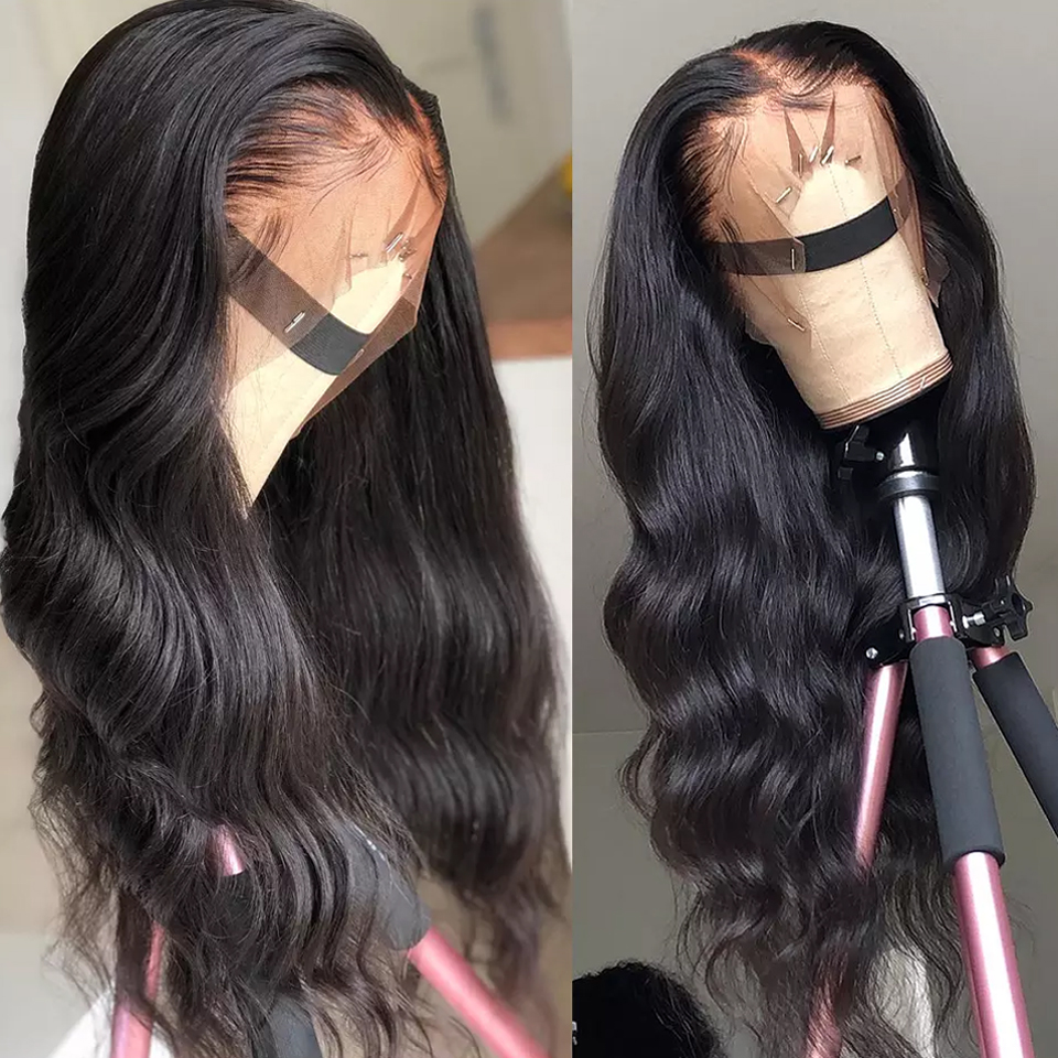 Sapphire Body Wave Human Hair Wigs With Baby Hair Brazilian 13*4 Lace Front Wigs Pre-Plucked Lace Frontal Human Hair Wigs