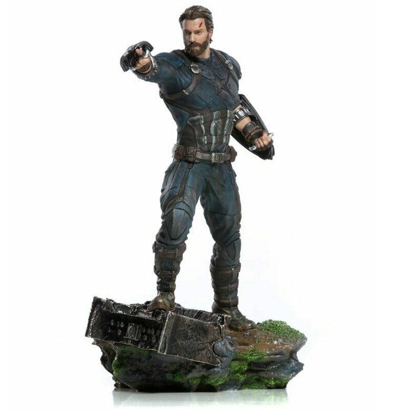 Marvel Captain America Statue Avengers Infinity Guerra Iron Studios 1/10 Scale Figure Toy Brinquedos Figurals Model Gift