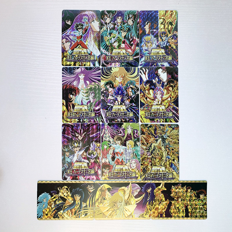 12pcs/set Saint Seiya Golden Zodiac Toys Hobbies Hobby Collectibles Game Collection Anime Cards Limit Free Shipping