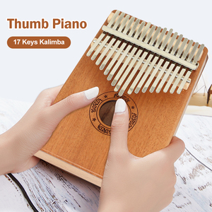 SFIT 17 Keys Kalimba Thumb Piano Wood Mahogany Body Musical Instrument With Learning Book Tune Hammer For Beginner Kalimba Bag