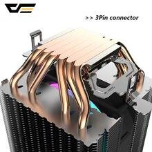DarkFlash L6 ثنائي برج بالوعة الحرارة وحدة المعالجة المركزية برودة 6 أنابيب الحرارة 3pin 90 مللي متر PWM مروحة RGB LED وحدة المعالجة المركزية الهواء برودة ...