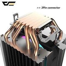 darkFlash L6 Dual-tower Heat sink CPU Cooler 6 Heat Pipes 3pin 90mm PWM Fan RGB LED CPU Air Cooler For Intel LGA 2011 AM4 AM3