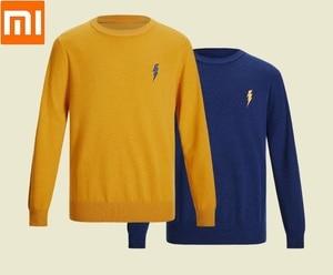 Xiaomi PROEASE модный мужской вязаный свитер с вышивкой и круглым вырезом мягкий теплый мужской свитер с длинным рукавом