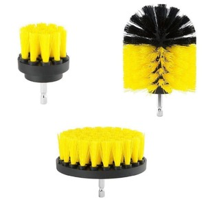 Image 3 - Electric Drill Brush Kit Plastic Round Cleaning Brush For Carpet Glass Car Tires Nylon Brushes Power Scrubber Drill