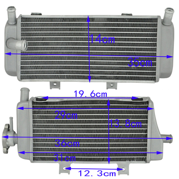 Motorcycle Aluminium Cooling Radiator For Honda CRF450X CRF 450 X CRF450 X 2005-2016  Left And Right