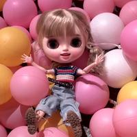 1/6 BJD 30CM Doll toys 19 joint Top Quality Chinese Doll BJD Ball Joint Doll Little happy Cute girl with blond hair blyth