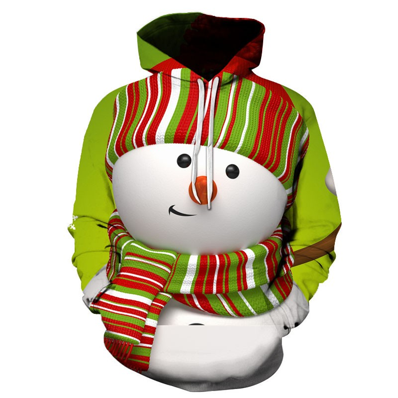 Hoodies & Sweatshirts Men's Casual Christmas 3D Print Long Sleeve Hooded Sweater Jacket Coat Men's Clothing Drop Shipping