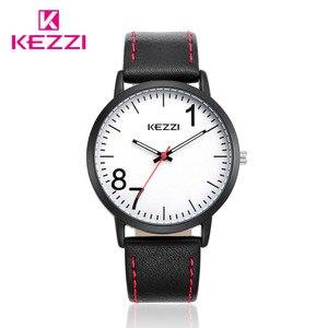 KEZZI marka skóra mężczyźni kobiety zegarki duża tarcza Casual zegarki kwarcowe wodoodporny zegarek dla pary dla studentów Relogio Montre