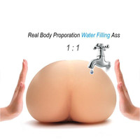 Flesh solo Ass Water flooding become bigger New Warm Water Filled Personal Satisfaction Device Sex product for man