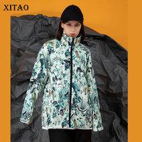 XITAO Doodle Hand Drawn Jacket Women Fashion Full Sleeve Loose Goddess Fan Minority 2020 Spring Casual Style Coat Top DMY3407