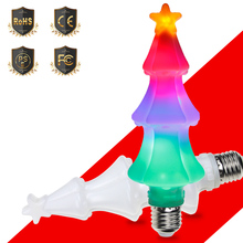 LED Flame Lamp E26 Effect Bulb RGB E27 Fire Light Dynamic Flickering Christmas Decoration Holiday Lighting 3W