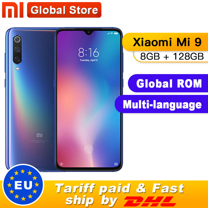 "Xiaomi Mi 9 Mi9 8GB 128GB ROM Smartphone Snapdragon 855 Octa Core 6.39"" 48MP Triple Camera In Display Fingerprint NFC"