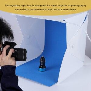Image 5 - صور استوديو صندوق 20 سنتيمتر/30 سنتيمتر حلقة صغيرة صندوق إضاءة LED صندوق الضوء التصوير استوديو اطلاق النار خيمة صندوق عدة و 6 اللون الخلفيات