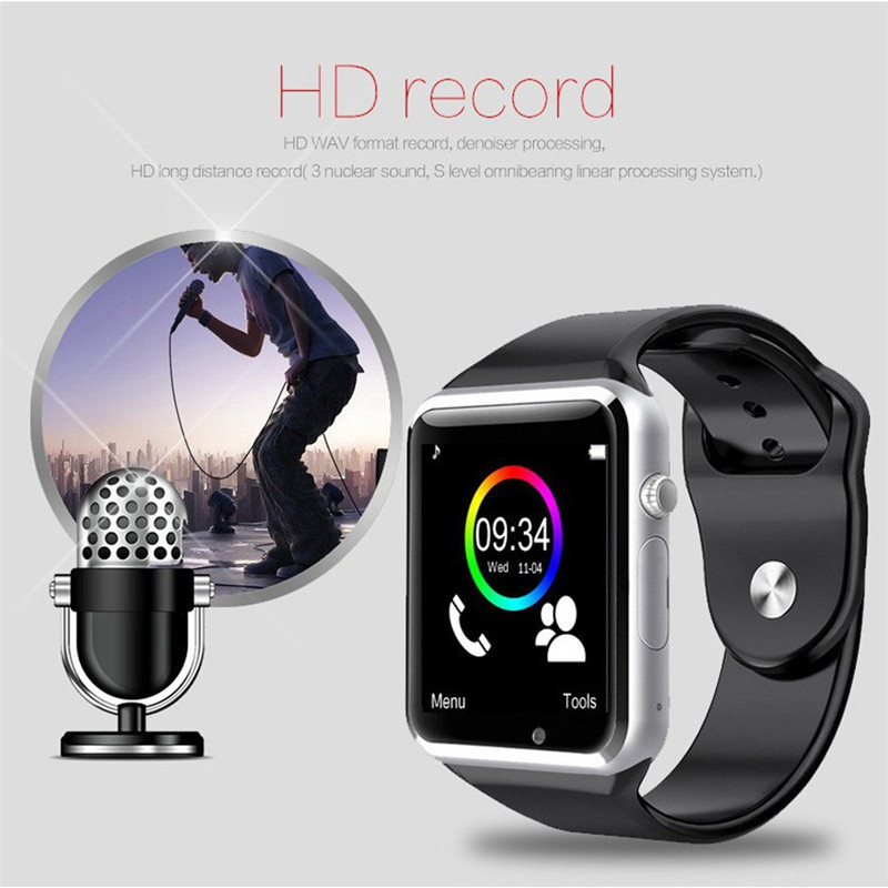 Image 4 - WristWatch A1 Bluetooth Smart Watch Men Sport Pedometer with SIM Camera Smartwatch for Android Smartphone Russia Good PK DZ09-in Smart Watches from Consumer Electronics