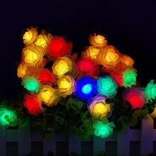 Праздничная гирлянда из ПВХ в виде Розы 10 80 светодиодов питание