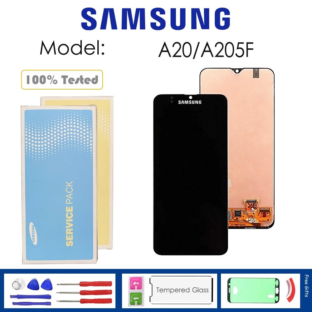 Per Samsung Galaxy A20 2019 A205F Display Lcd con Sensore di Tocco di Vetro Digitizer Assembly con Kit