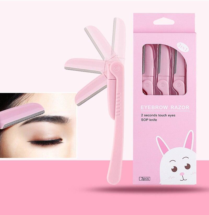 Купить 3 шт/компл розовый триммер для бровей на лице бритва подмышек