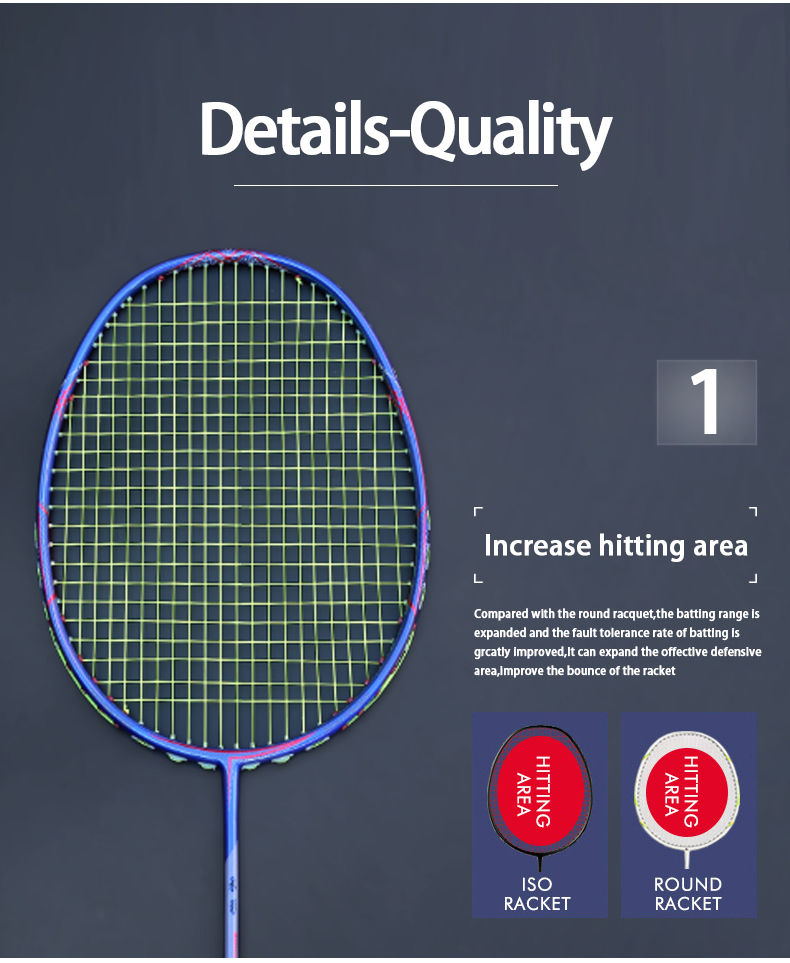Ultraleve 8u 65-67g raquete de badminton de