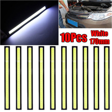 купить 10pcs Auto COB LED Driving Daytime Running Lamp Fog Light White color DC10V-12V 3.84W auto Daytime Running LED Light дешево