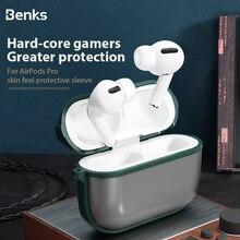 Benks 스킨 부드러운 이어폰 케이스 Airpods 프로 PC 하드 서리로 덥은 보호 커버 + 소프트 에지 프레임 쉘 Airpod 프로 3 박스 케이스