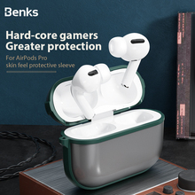 Benks Skin Smooth Earphone Case For Airpods Pro PC Hard Frosted Protective Cover+Soft Edge Frame Shell For Airpod Pro 3 Box Case