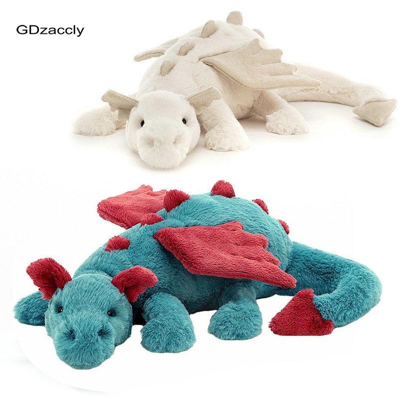 Swag зеленые злые Плюшевые игрушки-драконы, набитые птеродактилом диносом, летающие крылья, белые драконы, куклы, подарок на день рождения для...