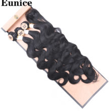 Black Body Wave Hair Weave 18-22 inches Available Synthetic Hair Extension 3 Bundles/package Hair Bundles Weaving For Women(China)