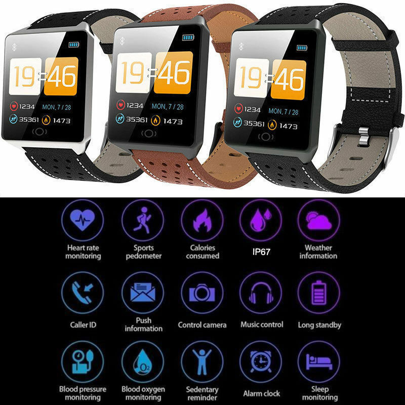 CK19 Smart Watch IP67 Waterproof Smartwatch Bluetooth Pedometer Heart Rate Monitor Color Display reloj intelligent Watch For And|  - title=