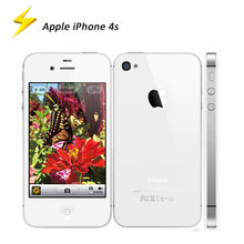 Apple-teléfono inteligente IPhone 4s, móvil Original usado de 3,5 pulgadas, 8/16/32/64GB, desbloqueado de fábrica, doble núcleo, cámara de 8MP, WIFI, GPS