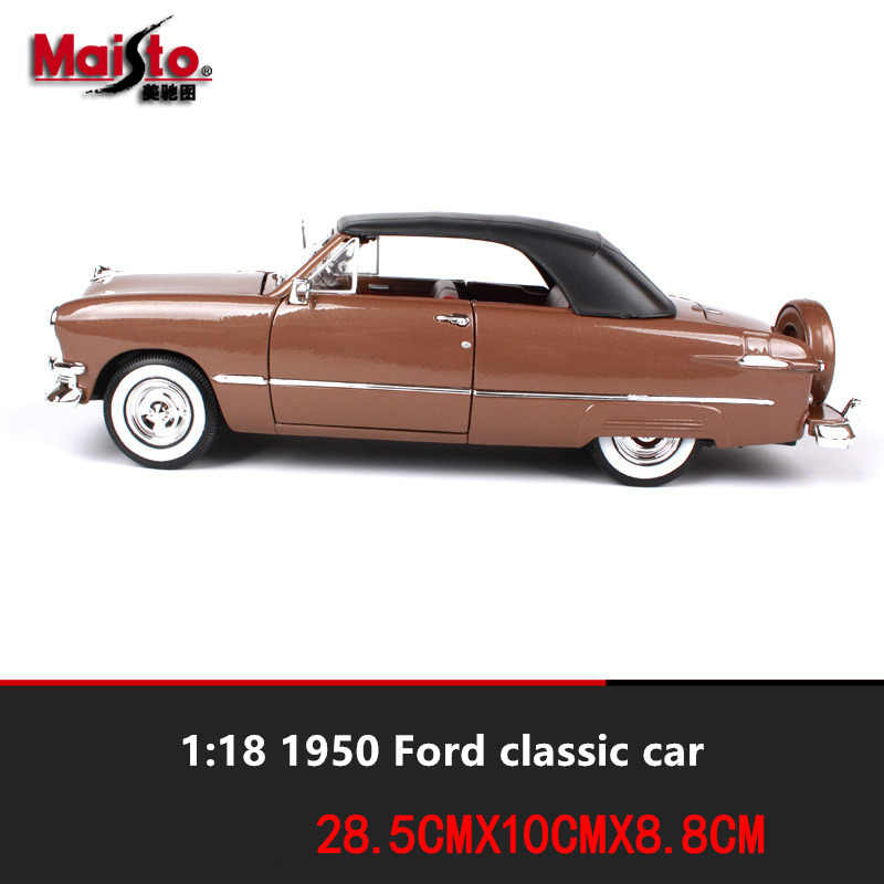 Maisto 1:18 1950 Ford Soft Top car alloy car model simulation car decoration collection gift toy Die casting model boy toy