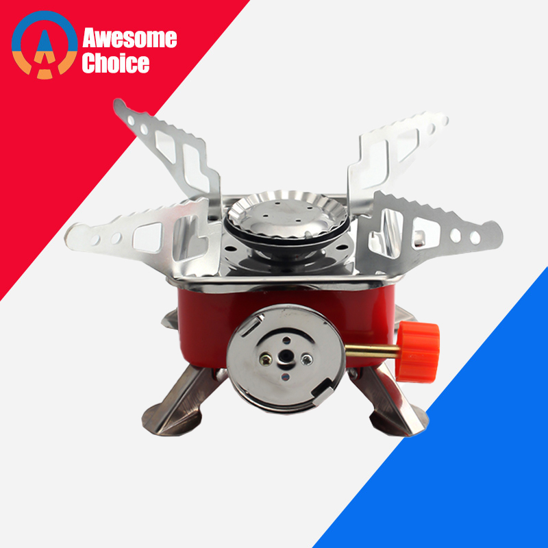 Powerful Wind Proof Outdoor Gas Burner For Camping Stove Lighter Tourist Equipment Kitchen Cylinder Propane Grill