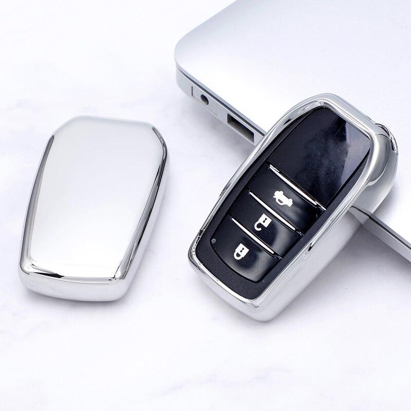 Мягкий ТПУ 2 3 4 кнопки дистанционного ключа автомобиля оболочки чехол для Toyota Chr C-hr Land Cruiser 200 Avensis Auris Corolla Интеллектуальный брелок